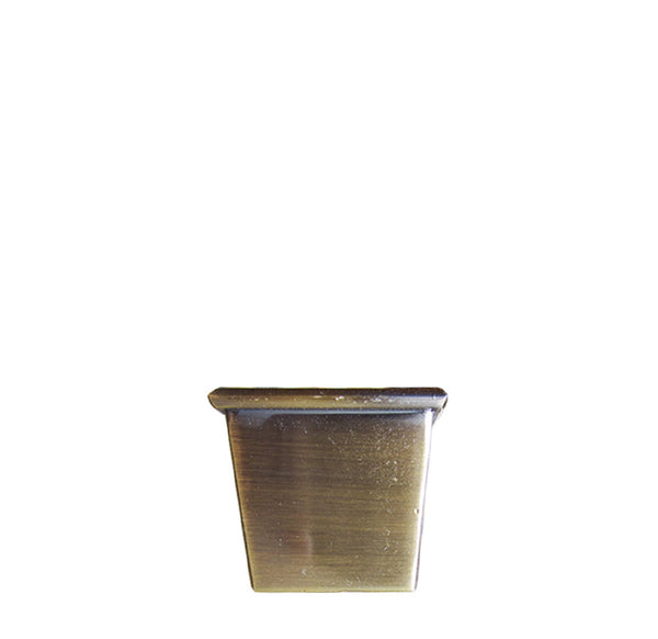 Square Furniture Leg Caster Cups - Brushed Brass lwx2b