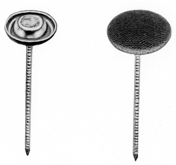 THREADED NAIL BUTTONS #22 W/ 1-1/2 INCH NAIL