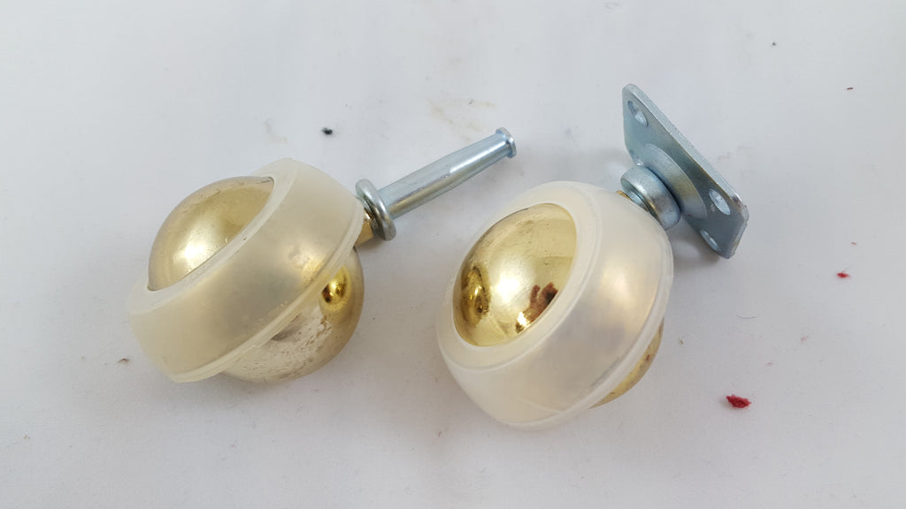 "IMPORTED STEM 2"" BRASS CASTERS"