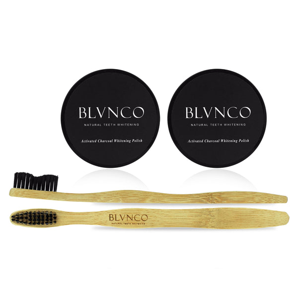 Activated Charcoal Polish Twin Kit