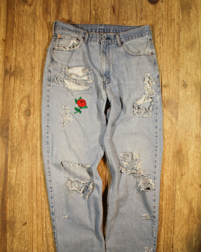 Rock and Roll Mom Jeans-Rose
