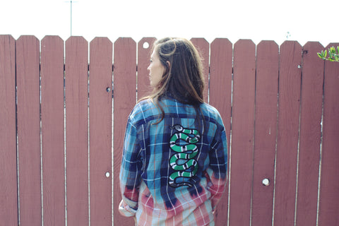 Faded Snake Flannel L