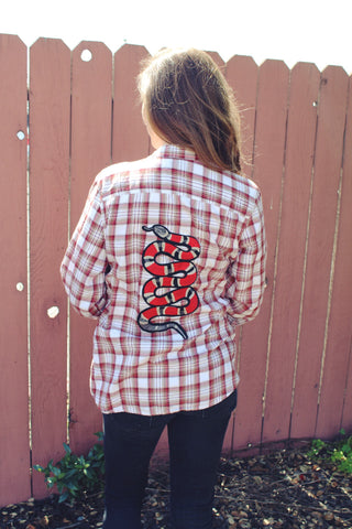 Rustic Snake Flannel M