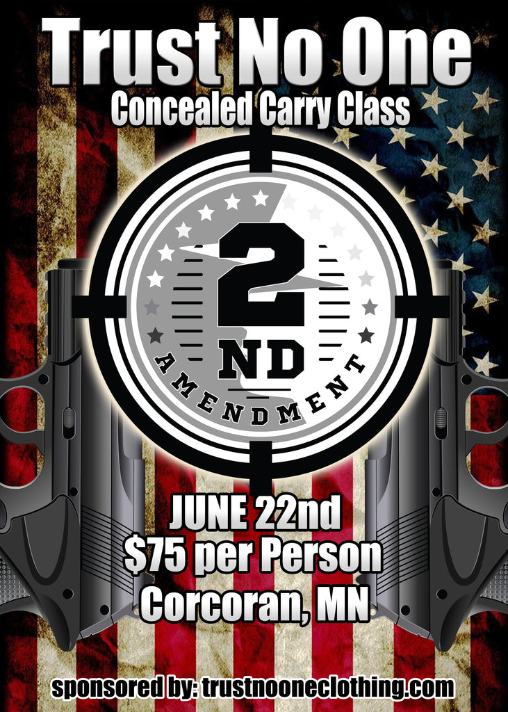 Trust No One Permit to Carry Class