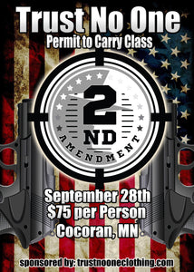 Trust No One MN Permit to Carry Class