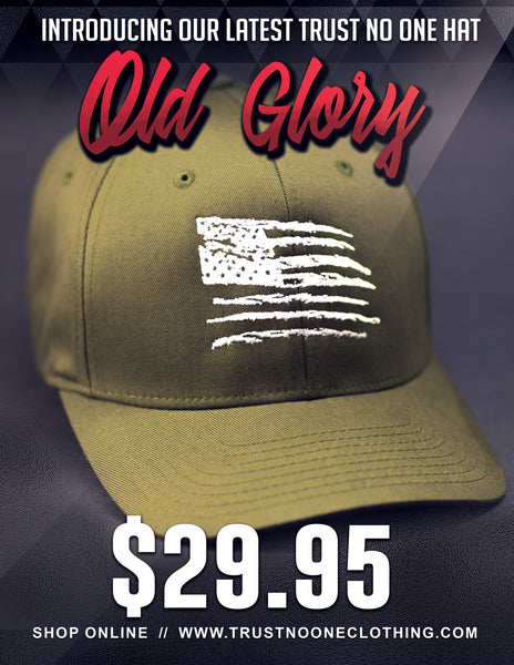 Old Glory Trust No One hat olive drab green TN1