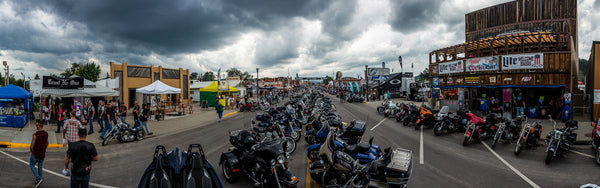 Trust No One Tent Booth Setup Sturgis Main Street Iron Horse TN1 motorcycle rally Panorama City