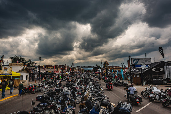 Trust No One Tent Booth Setup Sturgis Main Street Iron Horse TN1 motorcycle rally Storm 2018 18