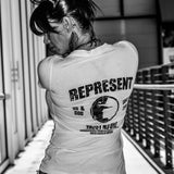 Women's Represent Graphic V-Neck - White