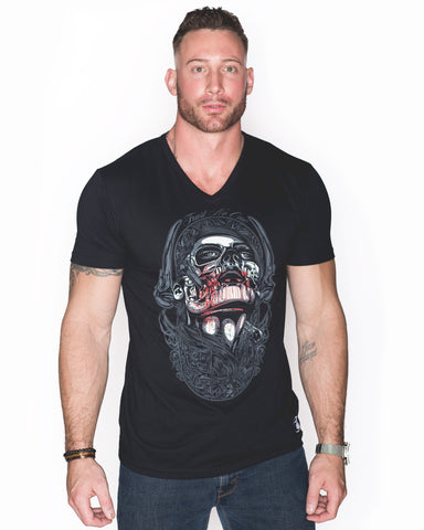 Mens Gents Betrayal Black Graphic v vee v-Neck Shirt T-Shirt cotton tee style