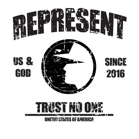 Trust No One Men's Represent T-Shirt - White