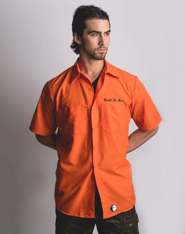 Trust No One Orange Mechanic Shirt TN1 Clothing Apparel Riding Gym