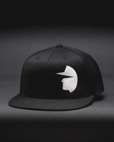 Face of Trust No One Structured Flat Bill Flexfit Hat - Black Flatbill