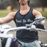 Men's Burnout Tank Top - Charcoal Black