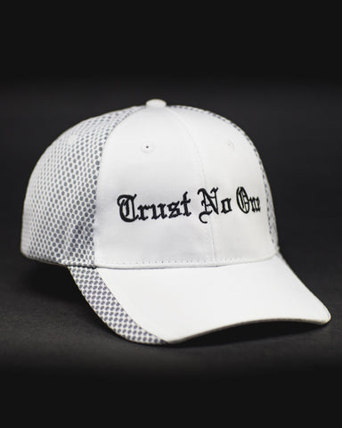 White Trust No One Two Tone Deluxe Snap Back Cap Snapback TN1 TNO TrustNo1 Clothing Apparel Fitness