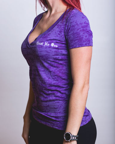 Women's Viking Purple Burnout V-Neck