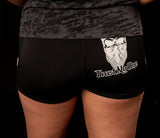 Women's Trust No One Workout Shorts - Black