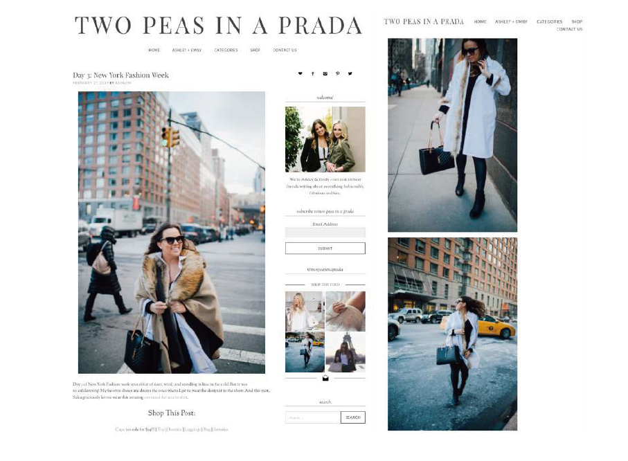 Feb 27th 2017 _ TWO PEAS IN A PRADA