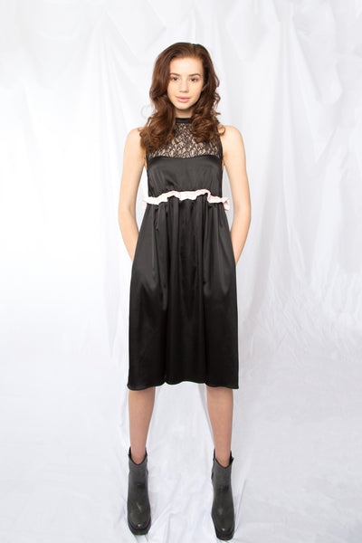 Sheer Upper Bodice Gathered Dress