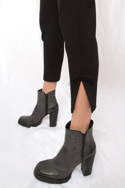 Ribbons Slit Slacks _ Charcoal (2 colors)