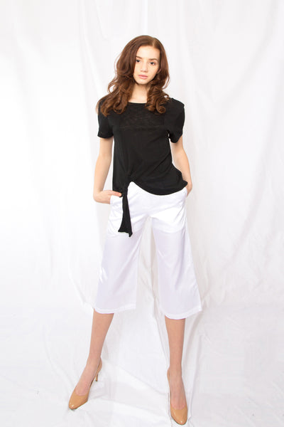 Sporty and Feminine Pants _White (2 Colors)