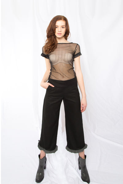 slim fit lace top