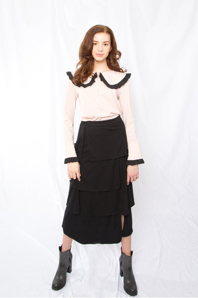 Four Layered Skirt _ Black