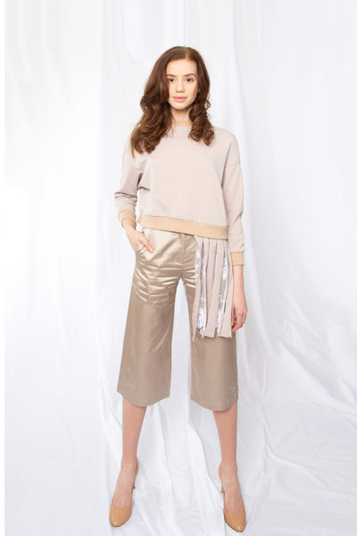 Sporty and Feminine Pants _ Beige (2 Colors)