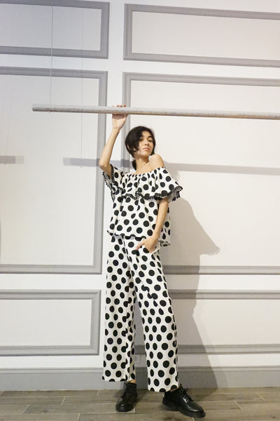 Polka Dot Wide Pants