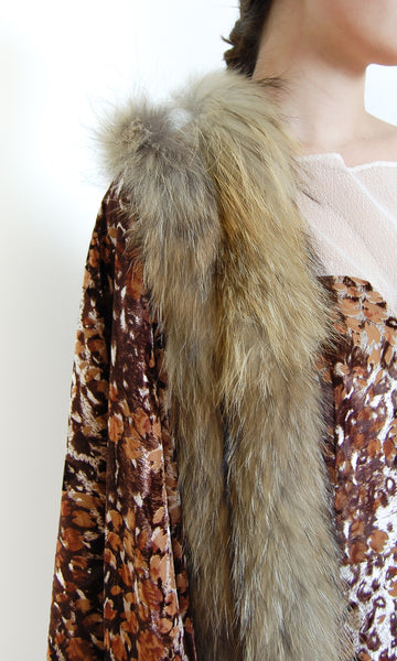 Fur Trimmed Scarf