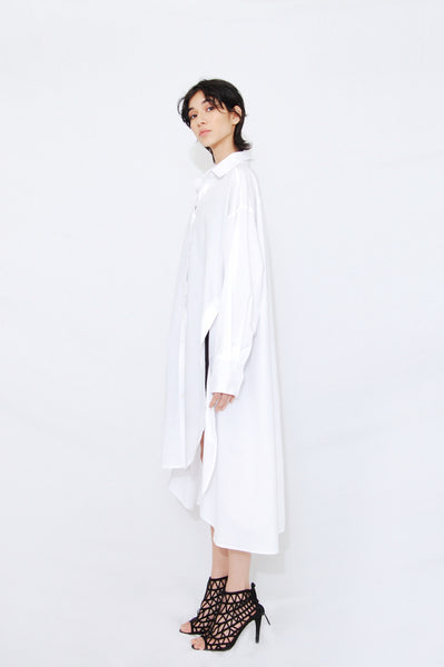 Side slit oversized shirt