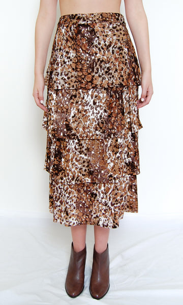 Four Layered Skirt _ Leopard (2 colors)