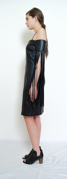 Fringe One Shoulder Dress