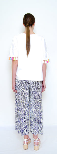 Multicolored Tassels Boxy Shirt _ White (2 colors)