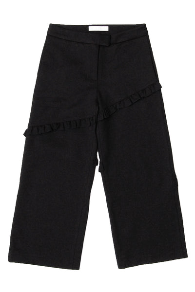 Paneled Frill Edge Pants