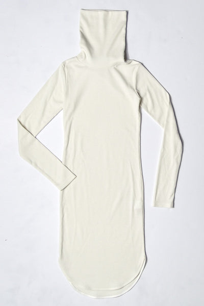 High Neck Woven Dress _ Ivory (2 Colors)