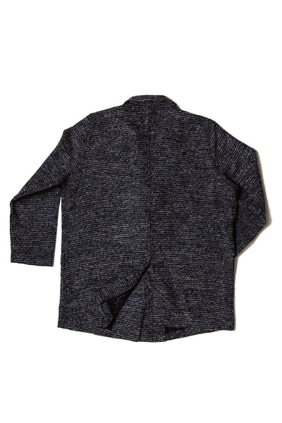 Wool Tweed Oversized Jacket _ Dark grey ( 3 colors)