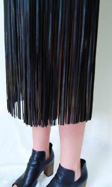 Leather Fringe Shorts