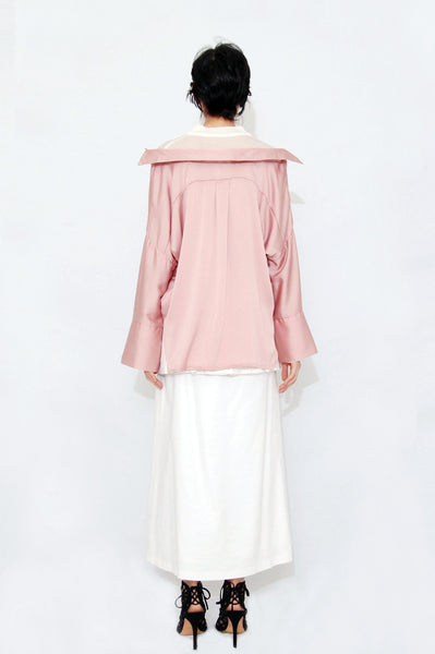 Inner layered oversized blouse Pink
