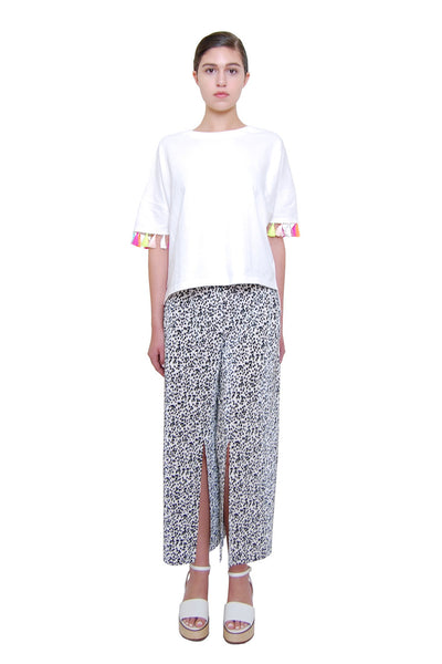 Flowy Slit Pants _White (2 colors)