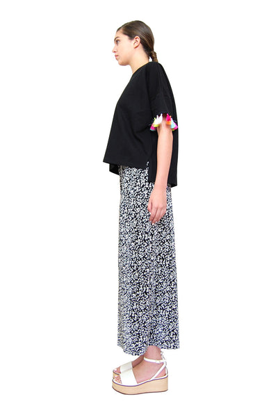 Flowy Slit Pants _ Black (2 colors)