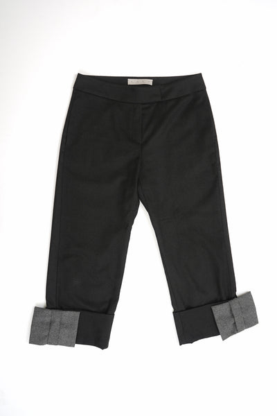Bow Cuffs Straight Pants