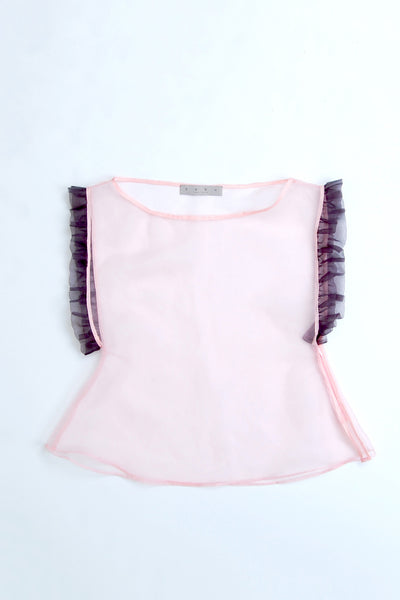 Frill-edge Flared Short Top