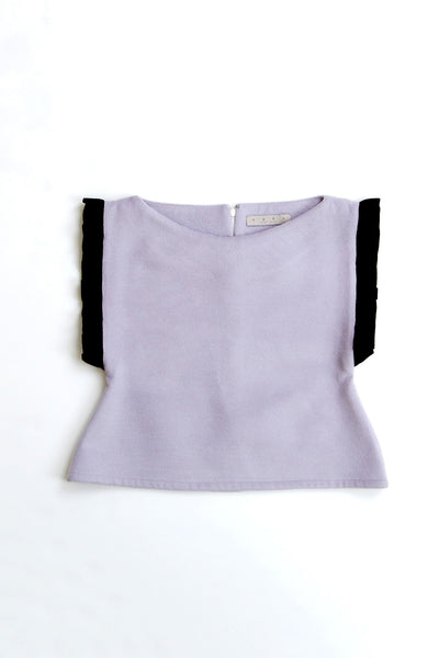 Frill-edge Fitted Crop Top