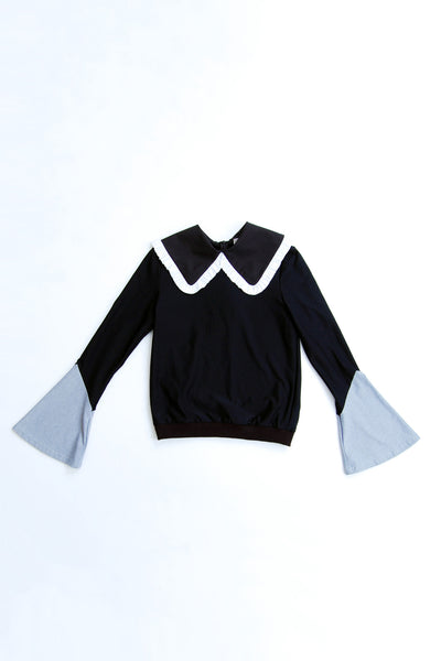 Peter Pan Collar Shirt Sweater