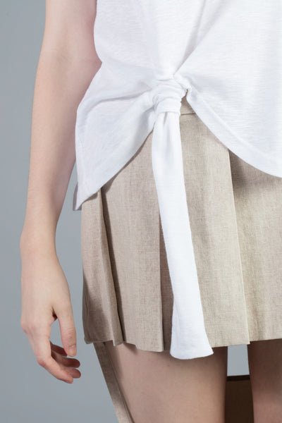 Linked Pleated Skirt