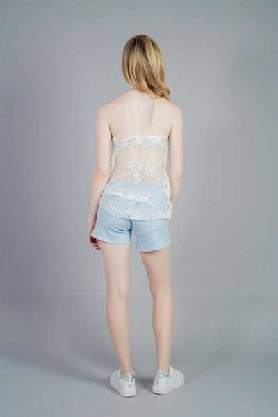 Flared-hem shorts