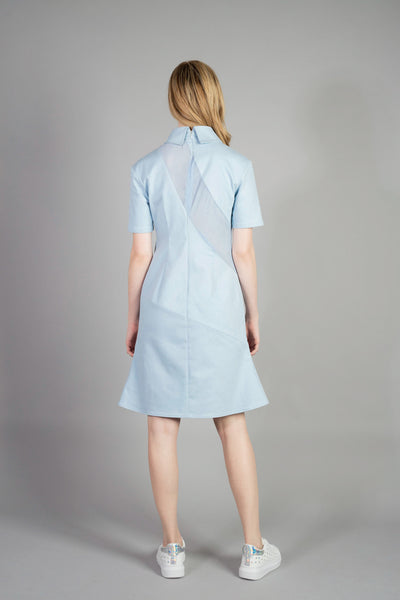 Crossing pleated-curve Dress