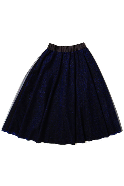 Metallic layered tulle skirt