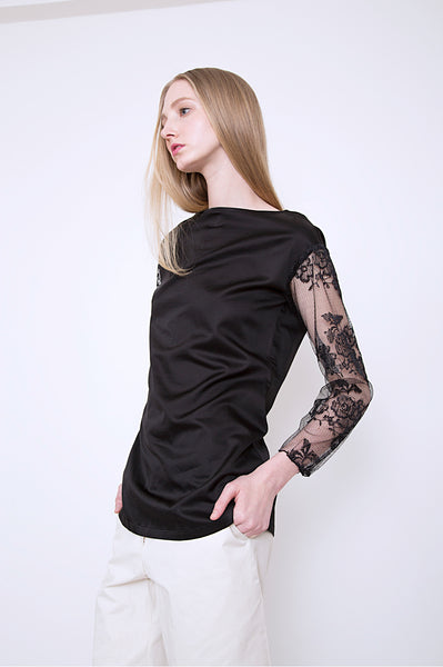 Boat Neck Top _Black (2 colors)